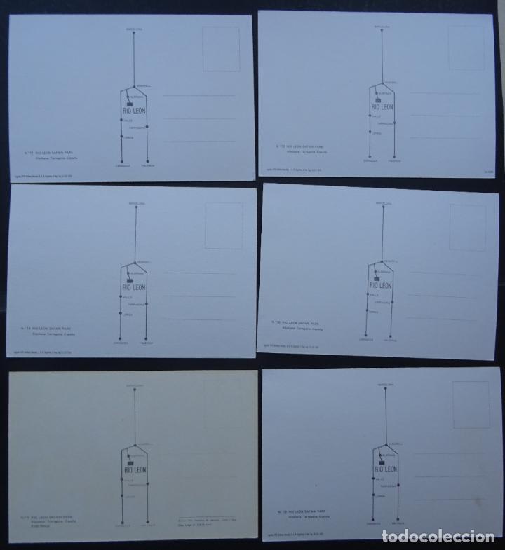 Postales: 6 postales de Rio León Safari, Albinyana, Tarragona. Postales sin circular del año 1979 - Foto 2 - 202468476