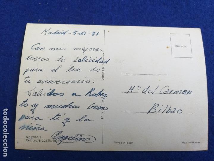 Postales: Foto postal. Gato. # 2016/2. Año 1971. Editorial Vikingo. Barcelona - Foto 2 - 202836317