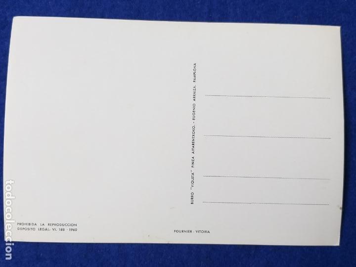 Postales: POSTAL ORACION AL BORRICO - BURRO VIOLETA FINCA AITARENTXOKO - Foto 2 - 204278620