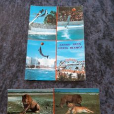 Postales: SAFARI PARK CISTA BLANCA ALICANTE EDICIONES HERMANOS GALIANA. Lote 206875605