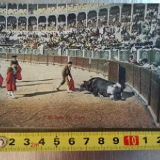 Postales: POSTAL MUERTE DEL TORO, 1913 Nº11. TAUROMAQUIA. TOROS. PLAZA. CORRIDA TOROS. Lote 209812295