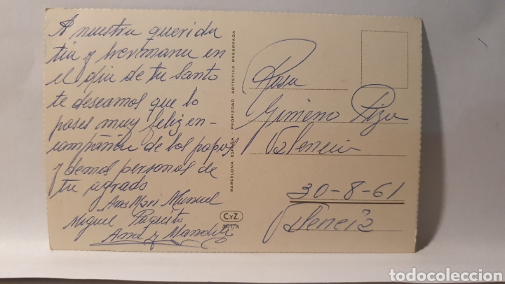 Postales: POSTAL/ PAJARO/ ORIGINAL DE ÉPOCA/ ESCRITA / AÑO 1961/ (REF.D.100) - Foto 2 - 218154210