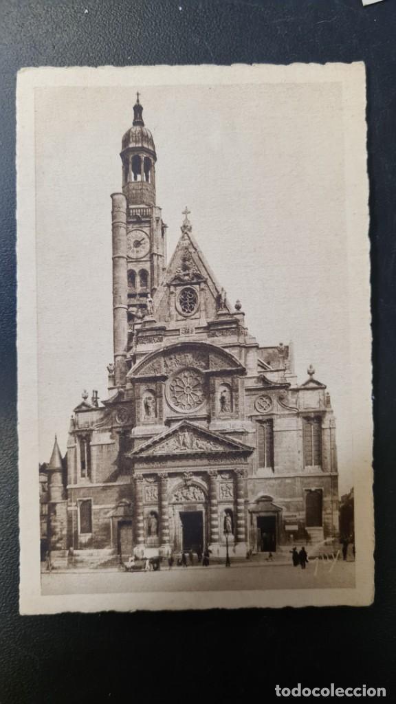 POSTAL DE PARIS VISTA Nº61 - IGLESIA DE ST.ETIENNE DU MONT - SIN CIRCULAR AÑOS 30 (Postales - Postales Temáticas - Animales)