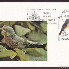 Postales: *AVES* EDIFIL 2820-23. TP MAX. MADRID 4-DIC-1985.. Lote 221699703