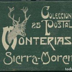 Postales: COLECCIÓN DE 25 POSTALES. MONTERÍAS EN SIERRA-MORENA. AÑO 1916. Lote 235303320