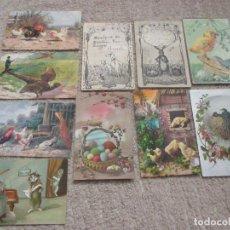 Postales: LOTE DE 10 POSTALES DE ANIMALES, DÉCADAS DE 1910, 1920 Y 1930. Lote 236079695