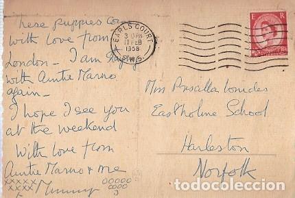 Postales: Gran Bretana & Circulado, Mascotas, Earls Court a Harleston 1957 (27978) - Foto 2 - 243094275