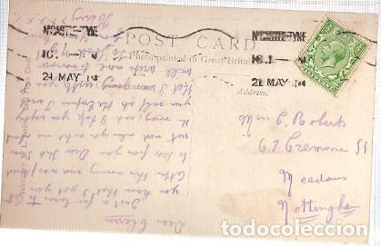 Postales: Gran Bretana & Circulado, En los Moros, de Newcastle Upon Tyne a Meadows, Nottingham 1914 (97978) - Foto 2 - 243099615