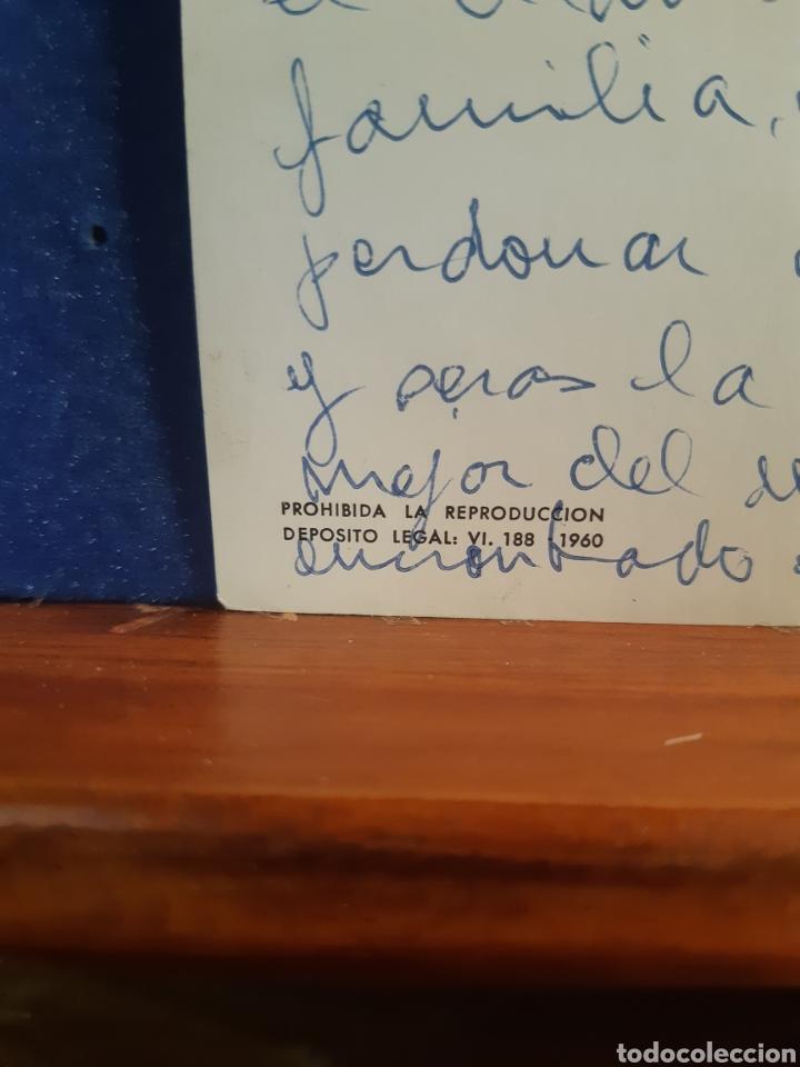 Postales: Antigua postal de la oración del borrico años 60 - Foto 2 - 244583255