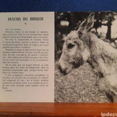 Postales: ANTIGUA POSTAL DE LA ORACIÓN DEL BORRICO AÑOS 60. Lote 244583255