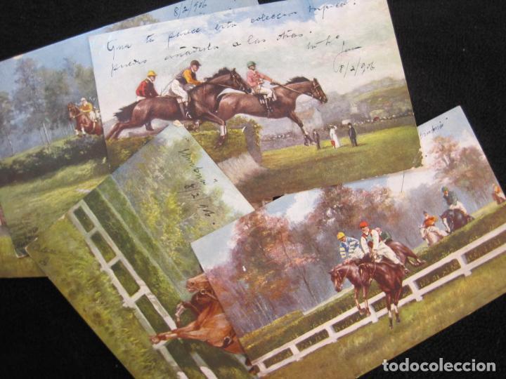Postales: CABALLOS-COLECCION DE 5 POSTALES ANTIGUAS-VER FOTOS-(77.800) - Foto 2 - 244588900