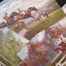 Postales: CABALLOS-COLECCION DE 5 POSTALES ANTIGUAS-VER FOTOS-(77.800). Lote 244588900