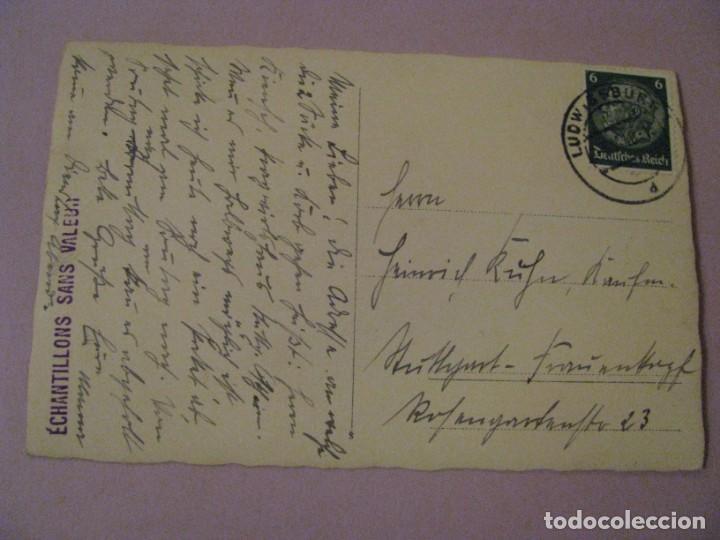 Postales: POSTAL FOTOGRAFICA DE UN PERRO PASTOR ALEMÁN. CIRCULADA 1940. SELLO DEUTSCHES REICH. - Foto 2 - 244760655