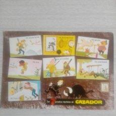 Postales: POSTAL ESCUDO DE ORO LOS SIETE PECADOS CAPITALES DEL CAZADOR N 2005 EL CAZADOR. Lote 245064170