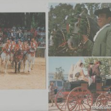 Postales: LOTE POSTALES CARROS CABALLOS ANDALUCIA AÑO 1992. Lote 245410340