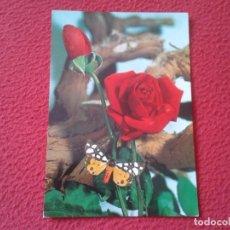 Postales: POST CARD MARIPOSA FLORES FLOR ROSA ? ROSE ? BUTTERFLY PAPILLON C. Y Z. 7108 ESCRITA FLOWERS FLEURS.. Lote 252813175