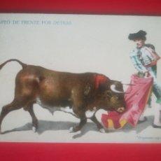 Postales: CAPEO DE FRENTE POR DETRAS. TOROS, TOREO, SUERTE.. Lote 253664805