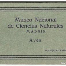 Postales: MADRID - MUSEO NACIONAL DE CIENCIAS NATURALES - 13 TARJETAS POSTALES - AVES. Lote 275143903