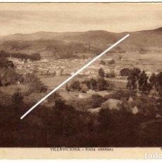 Postales: BONITA POSTAL - VILLAVICIOSA (ASTURIAS) - VISTA GENERAL - FOTO. A.FRESNO. Lote 275145758