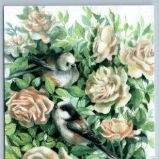 Postales: BIRD LONG -TAILED TIT IN ROSE GARDEN BY PLOVETSKAYA RUSSIAN NEW POSTCARD - TATIANA PLOVETSKAYA. Lote 278752928