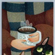 Postales: COZY COFFEE WITH CATS FUNNY UNUSUAL ART BY KRESHCHUK NEW POSTCARD - ANNA KRESHCHUK. Lote 278752958