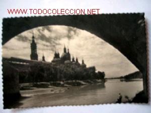 POSTAL ANTIGUA DE ZARAGOZA (Postales - España - Aragón Moderna (desde 1.940))
