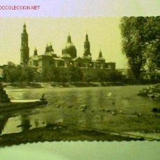 Postales: POSTAL DE ZARAGOZA FECHADA EN 1951. TEMPLO DEL PILAR, . Lote 16649008