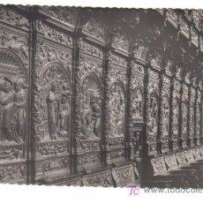 Postales: ZARAGOZA - BASILICA DEL PILAR - CORO - DETALLE DE LA SILLERIA. EDICIONES GARCIA GARRABELLA Nº 80.-. Lote 4189937