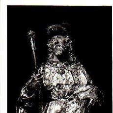 Cartes Postales: TARJETA POSTAL DE LA BASILICA DEL PILAR DE ZARAGOZA-BUSTO DE SANTIAGO CON PLATA REPUJADA. Lote 4257253