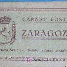 Postales: ZARAGOZA. 20 TARJETAS POSTALES. TERCERA SERIE. Lote 4622464