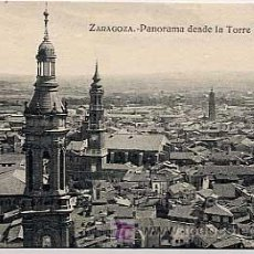 Postales: ZARAGOZA. PANORAMA DESDE LA TORRE DEL PILAR.. Lote 5417028