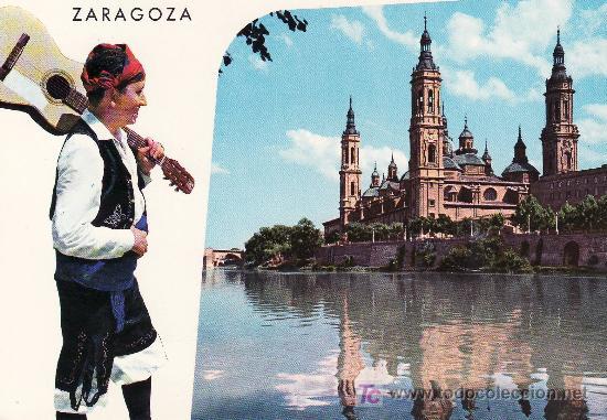 ZARAGOZA.BELLEZAS DE LA CIUDAD.POSTAL NO CIRCULADA (Postales - España - Aragón Moderna (desde 1.940))