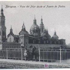 Postales: ZARAGOZA - VISTA DEL PILAR DESDE EL PUENTE DE PIEDRA.-. Lote 5966202