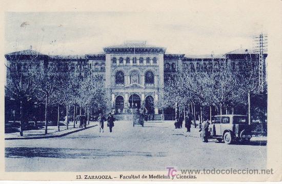 ZARAGOZA. FACULTAD DE MEDICINA Y CIENCIAS. (Postales - España - Aragón Moderna (desde 1.940))