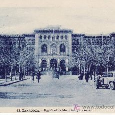 Postales: ZARAGOZA. FACULTAD DE MEDICINA Y CIENCIAS.. Lote 24023862