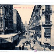 Postales: ZARAGOZA ALLE DE ALFONSO I A.S. SIN CIRCULAR.. Lote 13720113