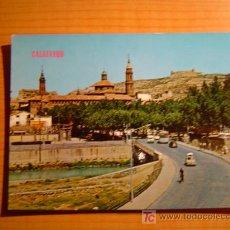 Postales: POSTAL CALATAYUD VISTA PARCIAL. AL FONDO EL CASTILLO. Lote 7100754