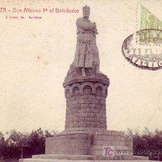 Postales: ZARAGOZA: MONUMENTO ALFONSO I EL BATALLADOR. ROISIN. SIN CIRCULAR. FRANQUEO Y MATASELLOS FANTASIA.. Lote 24766227