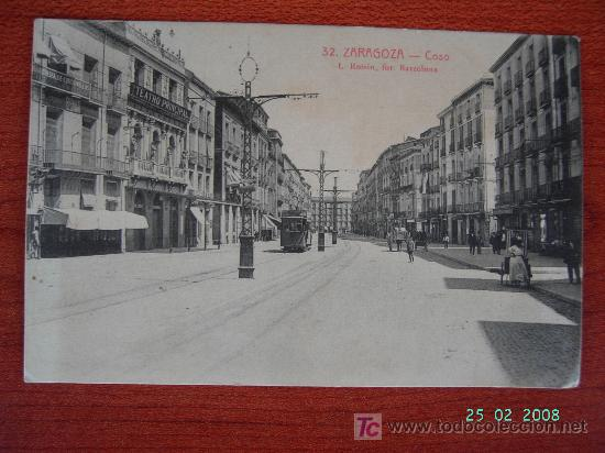ZARAGOZA - COSO (Postales - España - Aragón Antigua (hasta 1939))