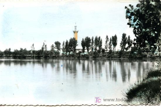 BELCHITE - ESTANQUE- ANTIGUA - CIRCULADA 1963 (Postales - España - Aragón Moderna (desde 1.940))