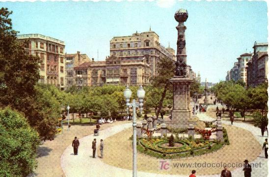 ZARAGOZA- PLZA. DE ARAGON- ANTIGUA - CIRCULADA 1963 (Postales - España - Aragón Moderna (desde 1.940))