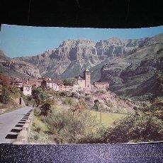 Postales: 302. PIRINEOS ARAGONESES, TORLA ,VISTA PARCIAL Y EL MONDARRUEGO AL FONDO.. Lote 8214171
