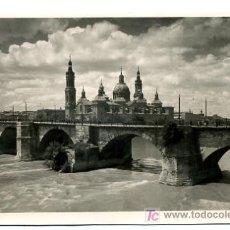 Postkarten - ZARAGOZA, PUENTE DE PIEDRA SOBRE EL EBRO, P22435 - 8230388