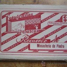 Postales: POSTALES MONASTERIO DE PIEDRA - 10 POSTALES LIBRITO, EN BLANCO Y NEGRO, VER TODAS FOTOGRAFIAS. Lote 26273801