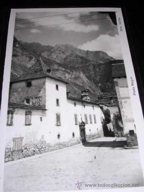 BENASQUE , PLAZA MAYOR, EDC, SICILIA (Postales - España - Aragón Antigua (hasta 1939))