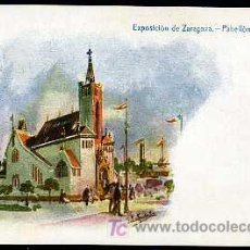 Postales: ZARAGOZA : IMP ALEMANA - EXPOSICION DE ZARAGOZA, PABELLÓN MARIANO. Lote 11827506
