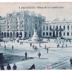 Postales: ZARAGOZA. PLAZA DE LA CONSTITUCIÓN.. Lote 14791365