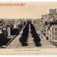 Postales: ZARAGOZA. AVENIDA DEL GENERAL MOLA. Lote 2359618