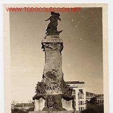 Postales: ZARAGOZA. PLAZA DE CASTELAR. MONUMENTO A LOS SITIOS. Lote 2384838