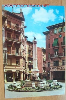 TERUEL. PLAZA DE CARLOS CASTEL (TORICO) (Postales - España - Aragón Moderna (desde 1.940))